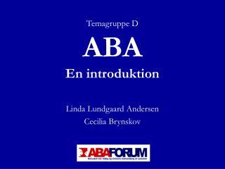 ABA En introduktion
