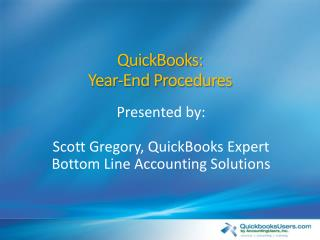 QuickBooks:  Year-End Procedures