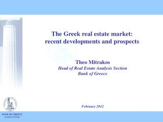 The Greek real estate market :  recent developments and prospects