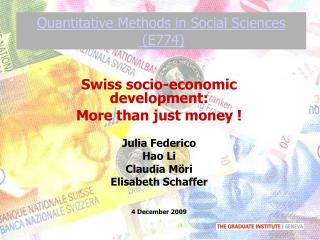 Quantitative Methods in Social Sciences  (E774)