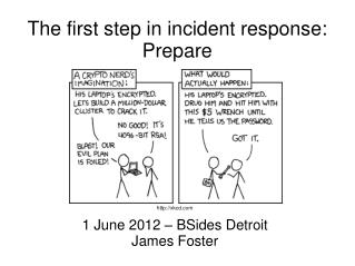 The first step in incident response: Prepare