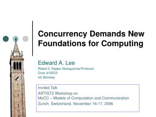 Concurrency Demands New Foundations for Computing