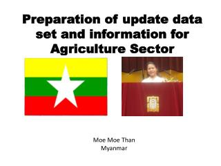 Preparation of update data set and information for Agriculture Sector