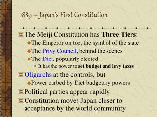 1889 – Japan's First Constitution