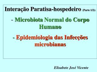 Interação Paratisa-hospedeiro  (Parte 1/2): Microbiota Normal do Corpo Humano