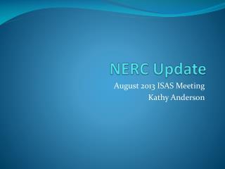 NERC Update