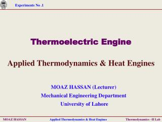 Thermoelectric Engine