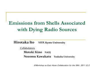 Hirotaka Ito   YITP, Kyoto University
