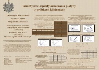 Analityczne aspekty oznaczania platyny  w próbkach klinicznych