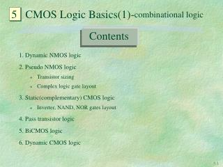 5   CMOS Logic Basics(1)- combinational logic