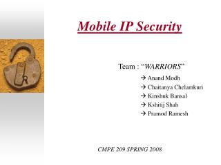 Mobile IP Security