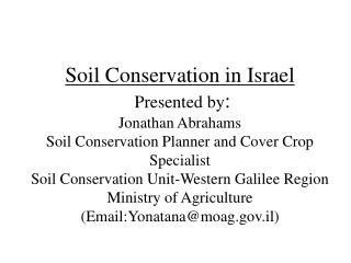 What is the meaning of  soil conservation?