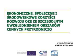 Urszula Anculewicz  W-MODR w Olsztynie