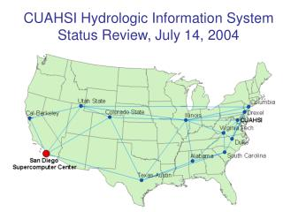 CUAHSI Hydrologic Information System Status Review, July 14, 2004