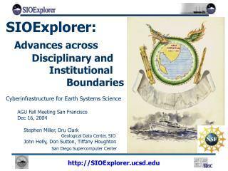 SIOExplorer: Advances across   Disciplinary and    Institutional       Boundaries