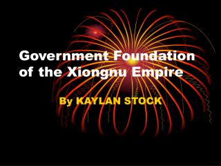 Government Foundation of the Xiongnu Empire