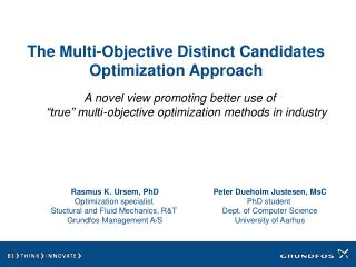 The Multi-Objective Distinct Candidates Optimization Approach