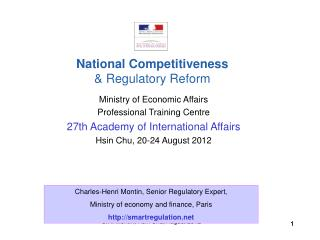 Ministry of Economic Affairs Professional Training Centre 27th Academy of International Affairs