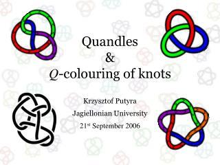 Quandles & Q -colouring of knots