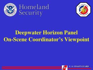 Deepwater Horizon Panel On-Scene Coordinator ' s Viewpoint