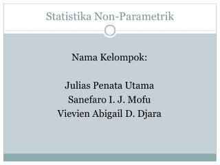 Statistika Non - Parametrik