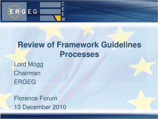 Review of Framework Guidelines Processes