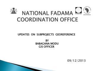 NATIONAL FADAMA COORDINATION OFFICE