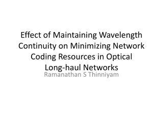 Ramanathan S  Thinniyam