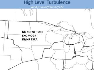 High Level Turbulence Valid  from  07/00Z-07/12Z