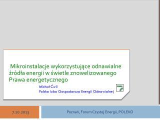 Odnawialne ?r�d?a Energii  w Polsce