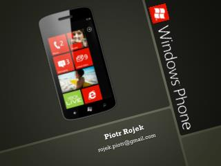 Piotr Rojek rojek.piotr@gmail
