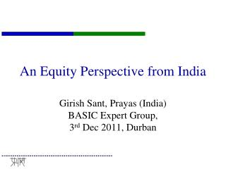 An Equity Perspective from India