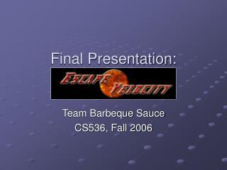 Final Presentation: