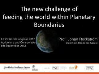 IUCN World Congress 2012 Agriculture and Conservation 8th September 2012