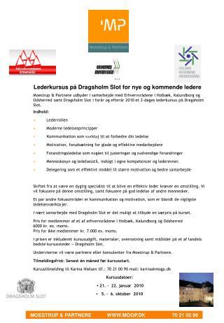 Lederkursus på Dragsholm Slot for nye og kommende ledere