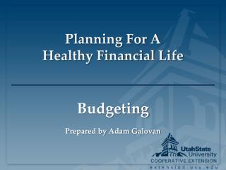 Planning For A  Healthy Financial Life