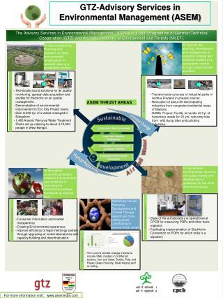 GTZ- Advisory Services in Environmental Management (ASEM)