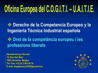 Derecho de la Competencia Europeo y la Ingeniería Técnica Industrial española