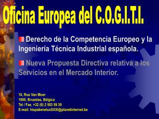Derecho de la Competencia Europeo y la Ingeniería Técnica Industrial española.