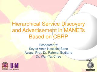 Hierarchical Service Discovery and Advertisement in MANETs Based on CBRP