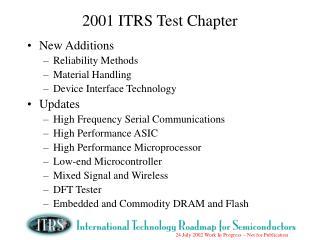 2001 ITRS Test Chapter