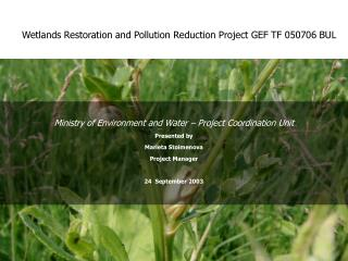 Wetlands Restoration and Pollution Reduction Project GEF TF 050706 BUL