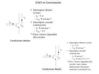 El BJT en Conmutación.