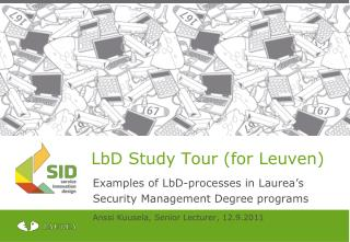 LbD Study Tour (for Leuven)