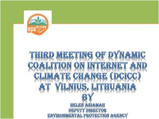 Third Meeting of dynamic coalition on internet and Climate Change ( Dcicc )