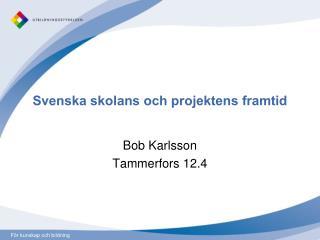 Svenska skolans och projektens framtid