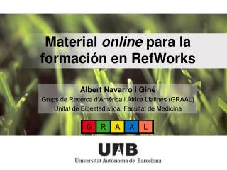 Material  online  para la formación en RefWorks