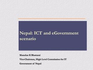 Nepal: ICT and eGovernment scenario