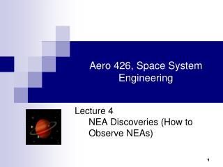 Aero 426, Space System Engineering