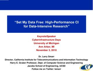 """Set My Data Free: High-Performance CI  for Data-Intensive Research"""